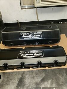 Bbc Valve Covers Aluminum Fabricated Used Drag Racing Parts