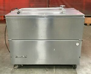 Beverage Air Stainless Rolling Commercial Refrigerator freezer Model Sm49n