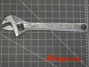 Snap On Tools Large Adjustable Crescent Wrench 12 Ad12 300mm Chrome