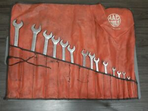 Snap On Sae Double Dual Open End Wrench 20pc Set 5 16 1 5 8 Vo820k Vo Vo4852