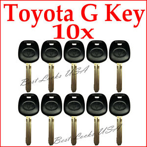 10pcs Toyota 2010 2014 G Chip Transponder Key Blank With Logo Last Stock