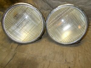 Pair Vintage Headlights Oe For Canada Maple Leaf Truck Gmc Other Rat Rod