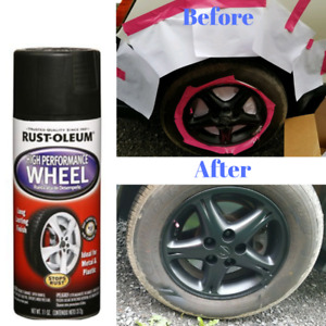 Automotive Aluminum Wheel Spray Paint Smooth Finish Matte Black Clear Car Coat