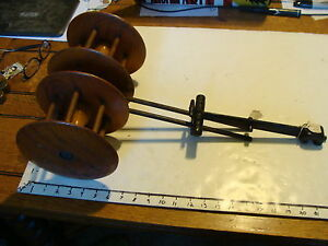 Vintage Double Spool Holder Yarn Or Thread From Old Machine