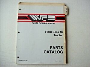 Original White Farm Equipment Field Boss 16 Tractor Parts Catalog Manual