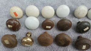 Lot Of 40 Vintage Antique Porcelain Wood Brass Door Knobs Doorknobs Estate