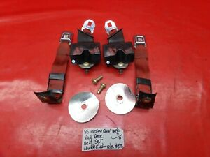 83 89 Ford Mustang Convertible Rear Back Seat Seatbelt Belt Set Left Right Red