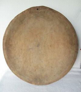 Extra Large Antique Primitive Hand Carved Wooden Dough Bowl 21 Free Shipping