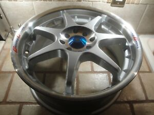 Adr Racing Power 7 Spoke 17x7 4x114 3 4x100 Rim Wheel Silver Polished Lip