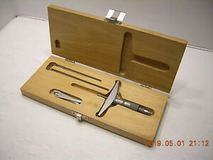 Complete 001 Scherr tumico Micrometer Type Depth Gage 0 3 Tested