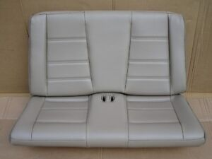 99 04 Mustang Convertible Tan Leather Rear Seat Oem Gt Base