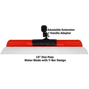 14 California One Pass Water Blade Squeegee With Handle Adapter
