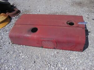 Farmall 656 Rc Ih Tractor Engine Motor Hood Cover Panel W Vents Chrome Emblem