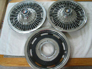 2 1 Back Vintage Used Oem Buick Special 15 Chrome Wire Hub Caps 67 72