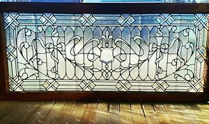 Large Victorian Philadelphia Jeweled Stained Glass Window