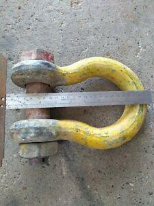 17t X 1 1 2 Galvanized Crosby Shackle