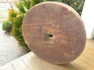Antique Wood Pulley Wheel 18 Across From A Mill In Pa