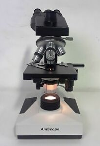 Amscope 40x 1000x Medical Lab Vet Compound Biological Microscope