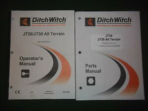 Ditch witch Jt30 Drill Operators Operation Maintenance Service Parts Manual Book