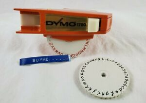 Vintage Circa 1972 Dymo 1780 Embossing Label Maker W Tapes Box Script Wheel