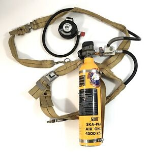 Scott Ska pak 4500 Psi Emergency Escape Air Tank Cylinder Bottle Ska Pak Scba