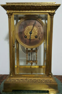 French Crystal Regulator Clock Double Barrel Pendulum