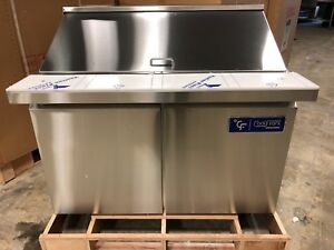 New Coolfront 48 2 Two Door Mega Top Refrigerated Sandwich Prep Table New