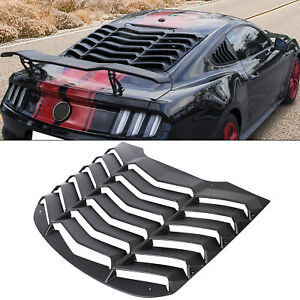 Abs Rear Window Louver Cover Sun Shade Vent For 15 18 Ford Mustang