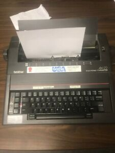 Brother Ax 22 Portable Electronic Typewriter W cover No Ink Ribbins Tested