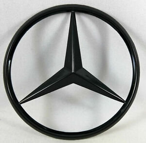 Piano Glossy Black Trunk Star Rear Badge Emblem For Mercedes Benz 3 25 85mm
