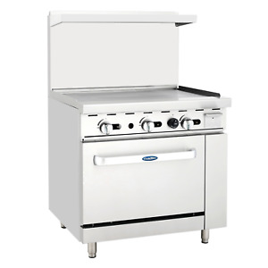 Atosa Ato 36g Gas Range 36 Wide Griddle Grill W Standard Oven