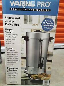 New Waring Stainless Steel 55 Cup Commercially Approved Coffee Urn