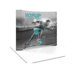 Hopup 8ft Tension Fabric Display Trade Show Display Curved