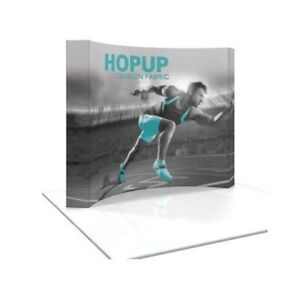 Hopup 10ft Tension Fabric Trade Show Display Curved
