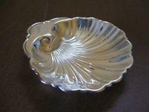 Vintage 5 Sterling Silver Nautical Clam Shell Nut Candy Dish