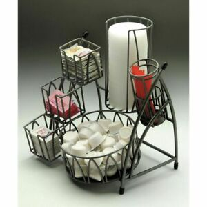 Condiment Holder Flint Powder coated Metal 10 L X 10 D X 11 3 4 H