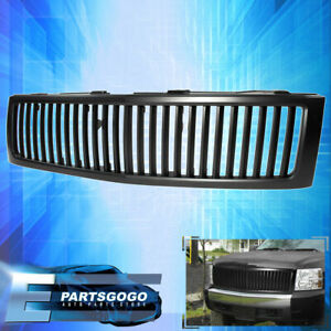 07 2012 Chevy Silverado 1pc Vertical Style Abs Plastic Front Black Grille Grill