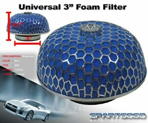 3 Mushroom Style High Flow Inlet Intake Air Filter Blue Microfoam For Acura