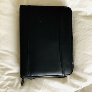 Franklin Covey Compact Planner Black Leather Binder Agenda Organizer Personal