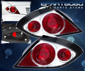 2003 2005 Pontiac Sunfire Se Gt Euro Chrome Red Altezza Rear Tail Lights Lamps