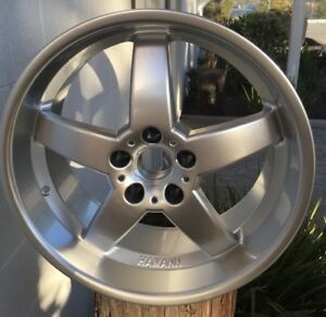 New Hamann Hm2 19 X 8 5 Et13 5x120 Silver Genuine Made In Italy One Wheel Only