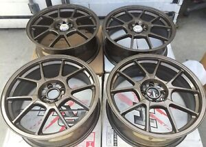 Racing Hart Evo Cp10 18 X 7 5 Et 42 4 100 Bronze Set Of 4 Wheels Jdm Include Cap