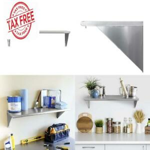 Seville Classics Solid Stainless Steel Commercial Floating Wall Mount Shelf 36