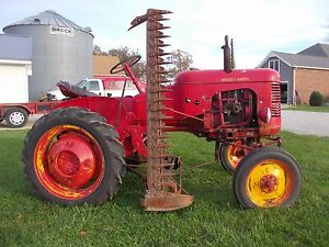 Massey Harris Pony Tractor Side Mh Sickle Mower Orginal 1 owner Runs Great