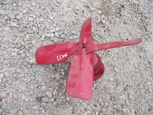 Massey Harris 33 Tractor Mh Engine Motor Water Pump Fan W Belt Drive Pulley