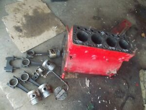 Massey Harris 33 Tractor Engine Motor Block M w More Power Pistons Oil Pump