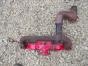 Massey Harris 22 Tractor Engine Motor Exhaust Manifold W Pipe Extra Piece