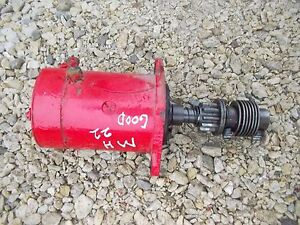 Massey Harris 22 Tractor Original Good Working 6v Starter Mh Assembly