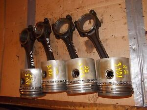 Massey Harris 22 Tractor Mh 4 Engine Motor Piston Pistons Ring Rings