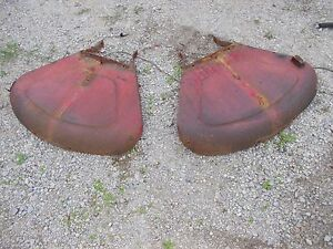 Massey Harris 33 30 Tractor Original Set Pair Mh Clamshell Fenders Fender